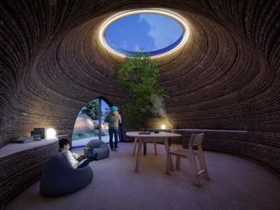 Nhà ở bằng đất sét được in 3D thân thiện với môi trường